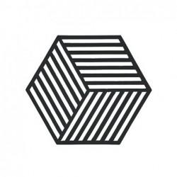 Trivet Noir Hexagon