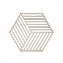 Trivet Gris clair hexagone