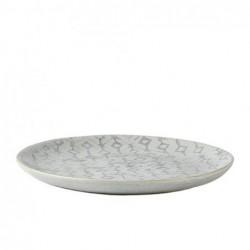 Assiette en grès bleu gris D21